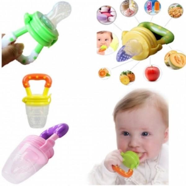 Alimentador de Silicone para Bebês Rosa